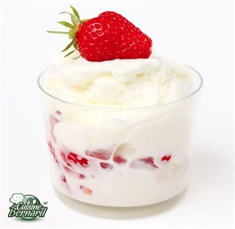 la cuisine de berbard la cuisine de bernard le yaourt glacé recettes sucrée nature et cuisine