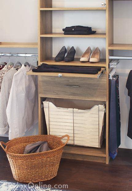 sliding chrome clothes hamper basket pull  hamper