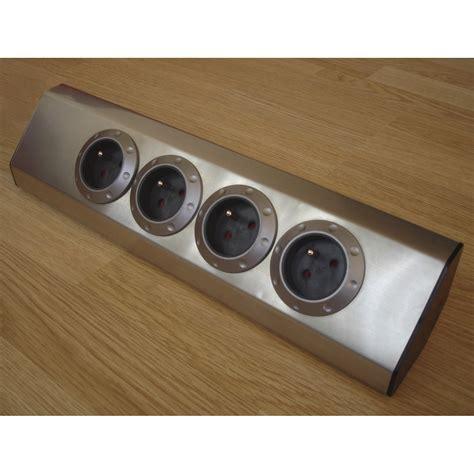 prise d angle cuisine multiprise à câbler 4 prises aluminium zenitech leroy merlin
