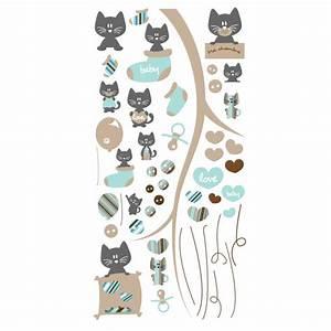 stickers petits chats bleu et gris pour chambre bebe With tapis chambre bébé avec envoyer des fleurs a new york