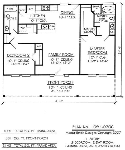 2 bedroom 1 bath house plans 2 house design plan