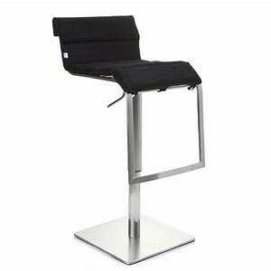 Chaise Tissu Noir : tabouret de bar chaise haute zeta tissu noir achat ~ Teatrodelosmanantiales.com Idées de Décoration