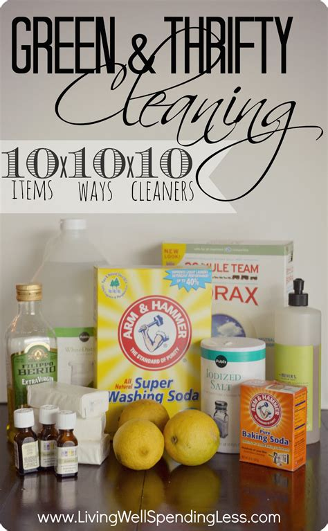 Green & Thifty Cleaning10 Items Mixed 10 Different Ways