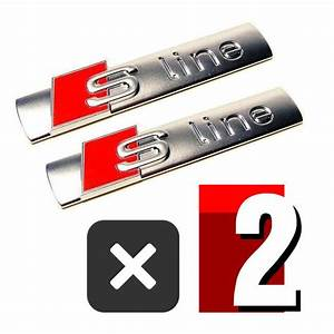 S Line Emblem : 2 pcs s line emblem chrome metal badge sticker for audi a3 ~ Jslefanu.com Haus und Dekorationen
