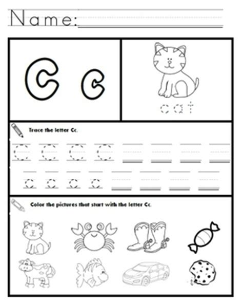 Letter C Worksheets! By Kindergarten Swag  Teachers Pay Teachers