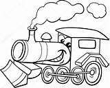 Engine Steam Coloring Clipart Cartoon Motor Dampflok Motore Train Kolorowanka Kolorowanki Clip Kleurplaat Vektor Karikatur Kleuren Treno Lokomotywa Parowy Silnik sketch template
