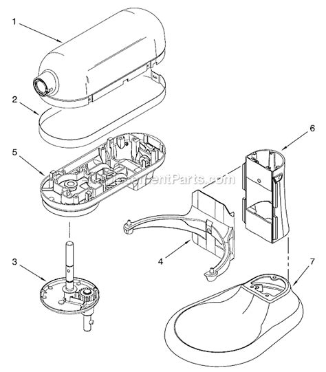 Kitchenaid Mixer Electrical Smell by Kitchenaid 4kg25h3x Parts List And Diagram Series 5