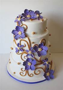 Purple And Gold Wedding - CakeCentral.com