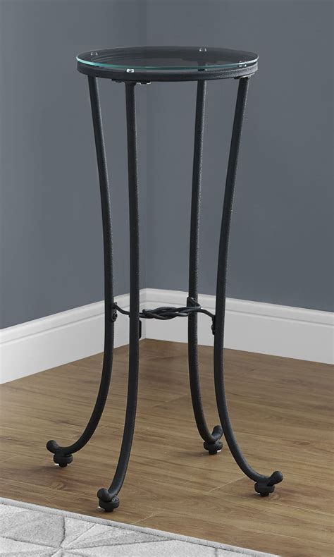 black metal end table hammered black metal accent table from monarch coleman