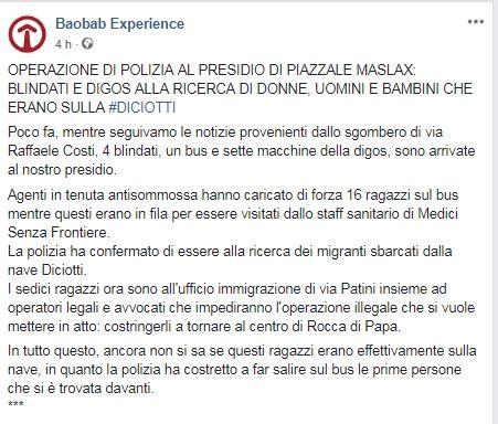 Ufficio Immigrazione Roma Via Patini by Fermati E Poi Rilasciati 16 Eritrei Della Diciotti