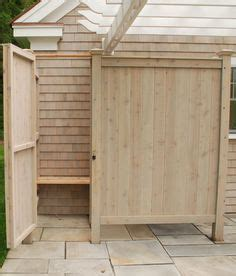 outdoor shower wood plans diy pinterest woods
