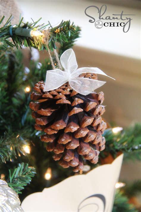diy pine cone christmas ornaments diy pinecone ornaments my tree shanty 2 chic