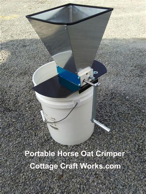 portable equine express oat crimper oat roller equine