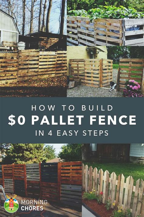 How To Build A Pallet Fence For Almost $0 (and 6 Plans Ideas