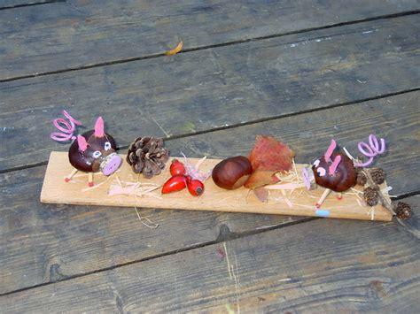 bricolage avec des marrons bricolage d automne choupe fouty