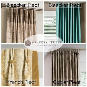 Top 3 most popular drapery pleat styles drapery street for Types of pleat curtains