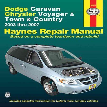 free online auto service manuals 2007 dodge caravan electronic throttle control dodge caravan chrysler voyager and town country automotive repair manual 2003 thru 2007