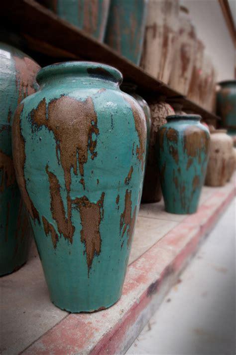 rustic glazed pots outdoor decor sacramento