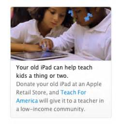 Apple donate your old ipads to teach for america macstories for Apple donates ipad refurbs to teach for america