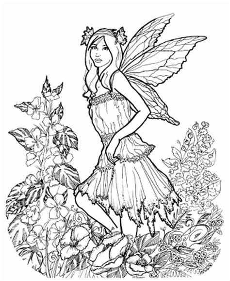 Intricate Fairy Coloring Pages at GetColorings com Free