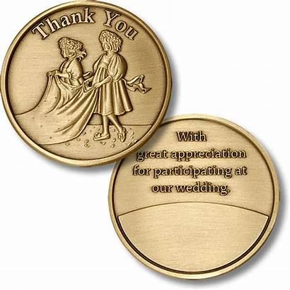 Thank Medallion Bronze Bridal Train Antique Coin