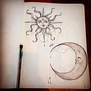Moon & Sun pencil drawing | The Pencil Heart | Pinterest ...