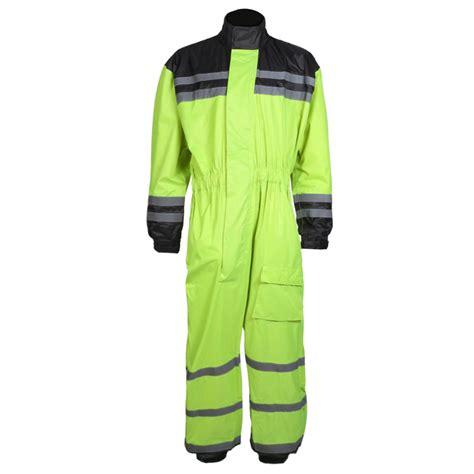 waterproof bike suit texpeed hi vis elasticated waterproof over suit