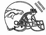 Broncos Denver Coloring Template Colouring Nfl Sheet Helmet Football Sketch Players sketch template