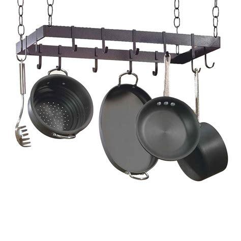 wrought iron pot rack rectangle