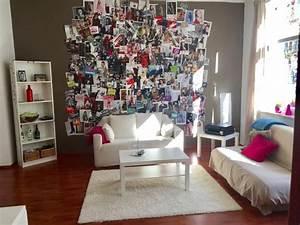 Idee Für Fotowand : wg zimmer idee gro e fotowand mit erinnerungen an sch ne momente und spannende reisen ~ Markanthonyermac.com Haus und Dekorationen