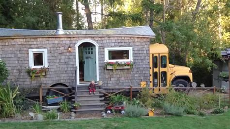 Family Converts School Bus Into Beautiful Cottage On