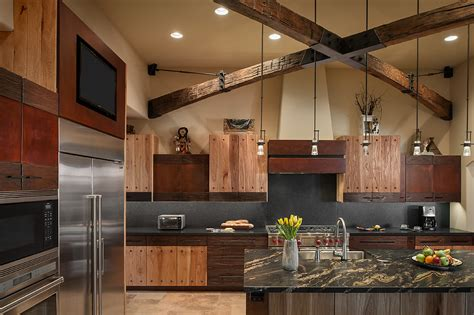rustic luxury kitchen interiors  color