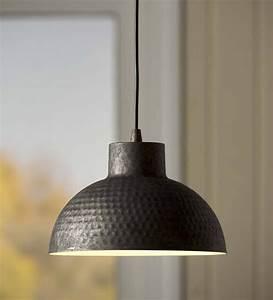 Hammered, Galvanized, Dome, Pendant, Light