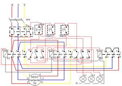 kontrol motor listrik 3 fasa delta e bagus