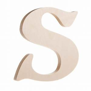 Fancy unfinished wooden letter s 725quot for Darice 7 fancy wood letters