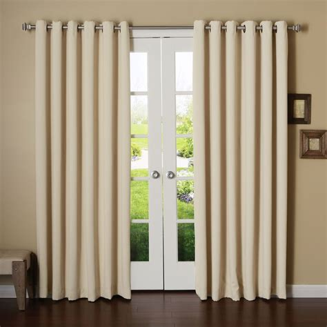 neutral living room grommet blackout curtains