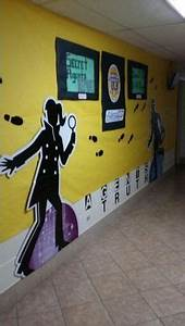 "Wall decor for the ""Get a Clue"" detective theme 