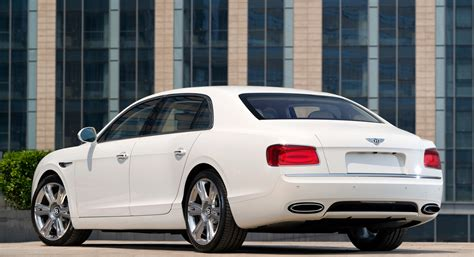 white bentley flying spur bentley flying spur white back hd desktop wallpapers 4k hd