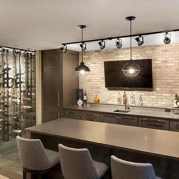brown tile backsplash brick bar backsplash design ideas