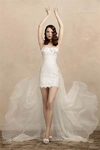 trains dresses trend With short wedding dresses with train