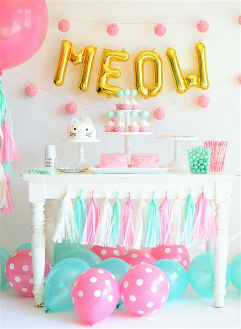 project decoration birthday decorations how to throw the purr fect kitten party birthday party