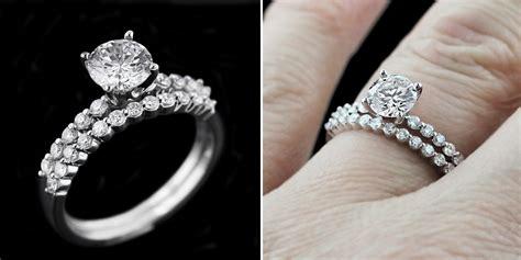 wedding ring sets miadonna man made diamonds hybrids
