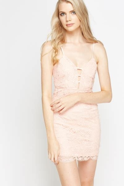 light pink bodycon dress floral mesh mini bodycon dress light pink just 163 5