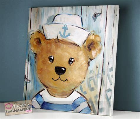 deco chambre marin tableau ourson marin 50 vente tableau ourson pour enfants