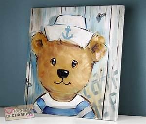 Tableau Deco Enfant : tableau ourson marin 50 vente tableau ourson pour enfants decore ta chambre ~ Teatrodelosmanantiales.com Idées de Décoration