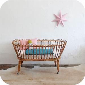 Lit Bébé Berceau : mobilier vintage berceau rotin vintage lit b b vintage ~ Teatrodelosmanantiales.com Idées de Décoration