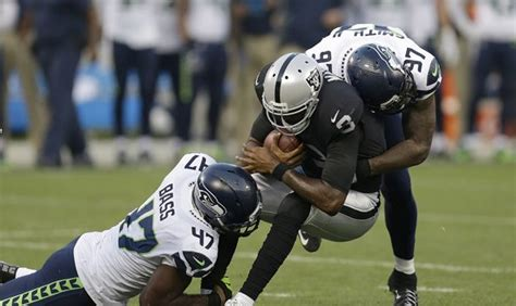 quarter  quarter seahawks beat raiders