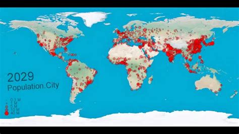 World population from 1950-2030 - YouTube