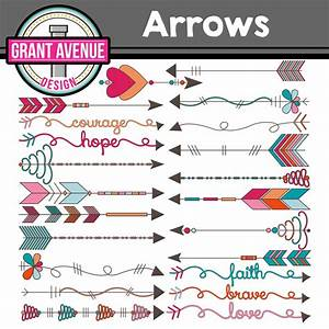 Grant Avenue Design - Tribal Arrows Clipart