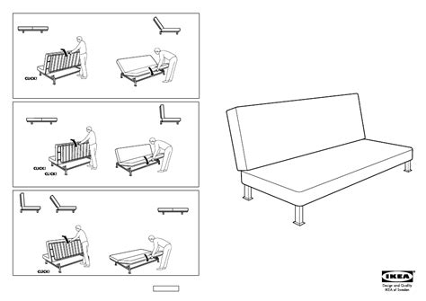 Ikea Exarby Sofa Bed Frame Assembly Instruction